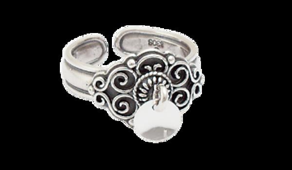 Ring, oksidert m. lauv artnr: 377102